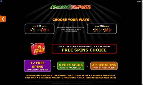 Monster Wheels review on Review Slots