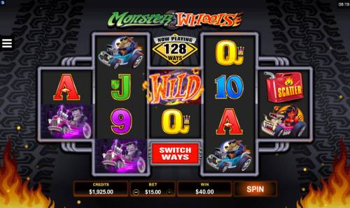 Monster Wheels Review Slots A winning Three of a Kind.