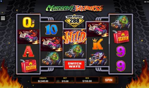 Monster Wheels Review Slots A winning Four of a Kind
