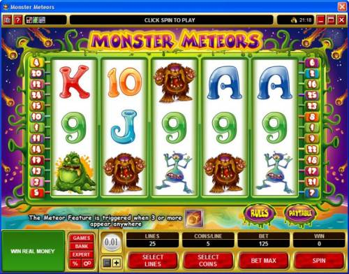 Monster Meteors review on Review Slots
