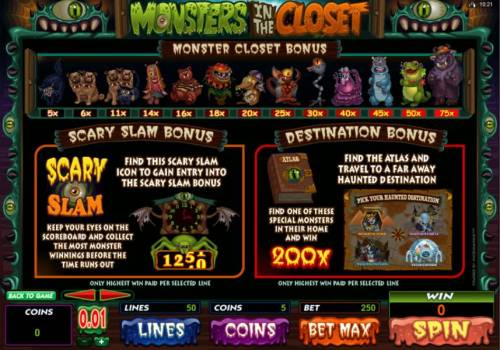 Monsters in the Closet review on Review Slots