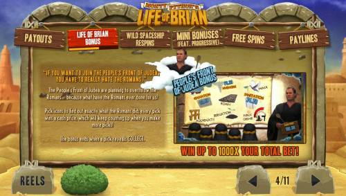 Monty Python's Life of Brian review on Review Slots