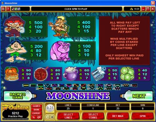 Moonshine review on Review Slots