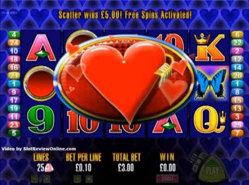 More Hearts Review Slots Three scatter symbols triggers free spins bonus feature