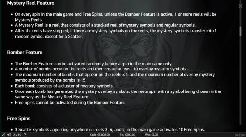 Motorhead Review Slots Mystery Feature and Bomber Feature Rules.