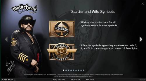 Motorhead Review Slots Scatter and Wild Symbols Rules