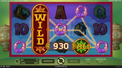 Mr. Green's Old Jolly Grand Tour of Europe Review Slots Multiple winning paylines triggers a 930 coin big win!