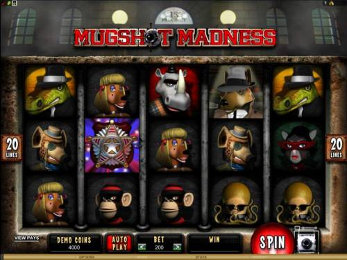 Mugshot Madness review on Review Slots