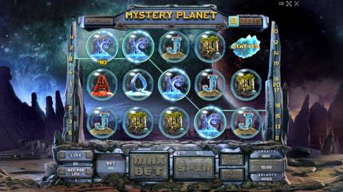 Mystery Planet Review Slots A winning Four of a Kind