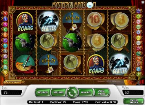 Mystery At The Mansion Review Slots two scatter symbols triggers a 2x your line bet payout