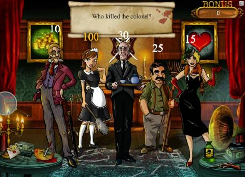 Mystery At The Mansion Review Slots by picking the maid we earned a 100 coin award