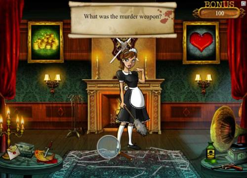 Mystery At The Mansion Review Slots what was the murder weapon? select from the items in the room
