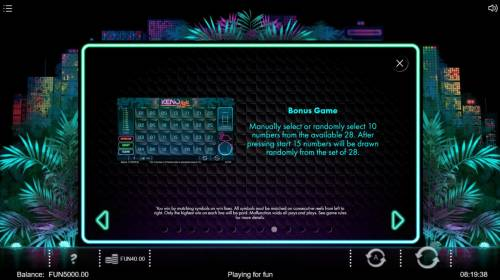 Neon Jungle Review Slots Bonus Game Rules