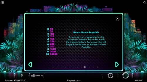 Neon Jungle Review Slots Bonus Game Rules - Continued