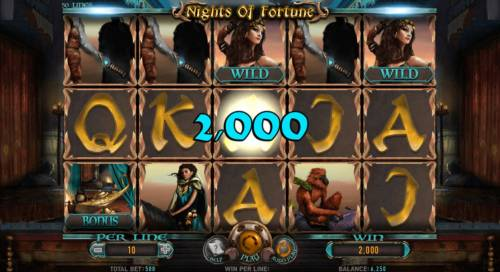 Nights of Fortune Review Slots An awesome 2,000 coin jackpot win!