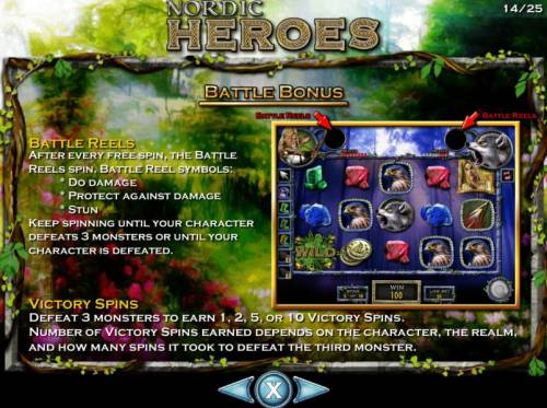 Nordic Heroes Review Slots Bonus Battle game rules.