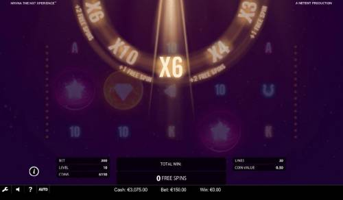 NRVNA The NXT Xperience Review Slots The NRVNA Wheel multiplier decends giving you a chance to increase your winnings up to x10