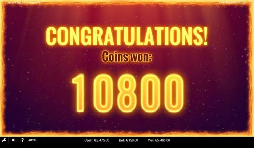 NRVNA The NXT Xperience Review Slots A 10800 coin payout awarded for the free spins feature win.
