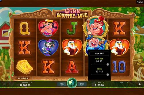 Oink Country Love review on Review Slots