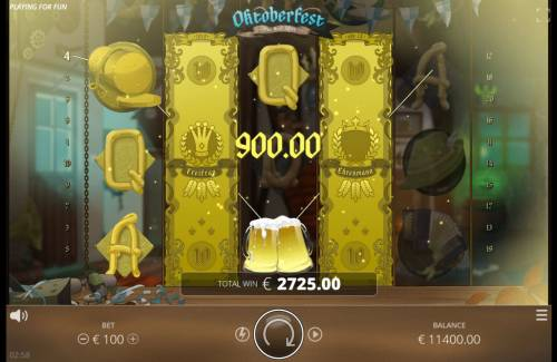 Oktoberfest Review Slots Stacked wilds triggers a big win