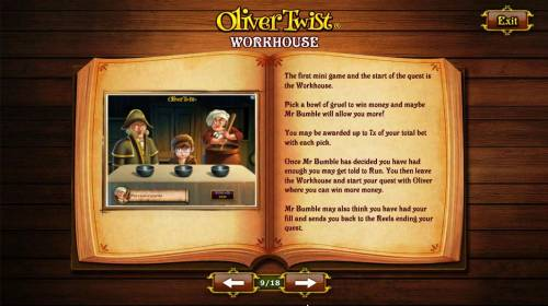 Oliver Twist Review Slots The first mini game and start of the quest is the Workhouse.