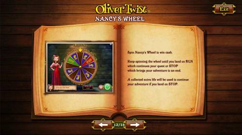 Oliver Twist Review Slots Spin Nancys Wheel to win cash.