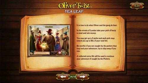 Oliver Twist Review Slots Tea Leaf - It is time to do what Oliver and the gang do best.