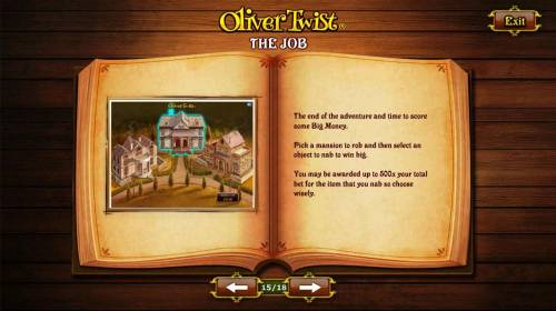 Oliver Twist Review Slots The Job - The end of the adventure and time to score some Big Money.