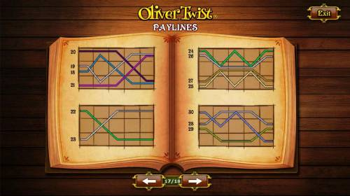 Oliver Twist Review Slots Payline Diagrams 18 - 30