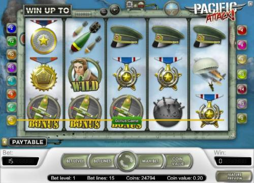 Pacific Attack review on Review Slots