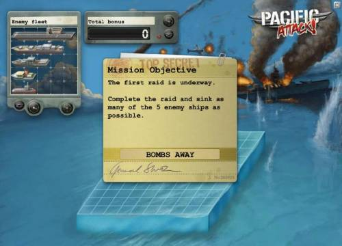 Pacific Attack Review Slots complete the raid and sink as many of the 5 enemy ships as possible