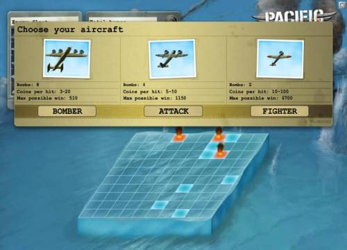 Pacific Attack Review Slots choose your aircraft for the next level
