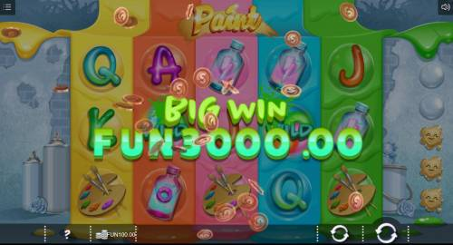Paint Review Slots A 3000.00 big win triggered by a winning five of a kind.