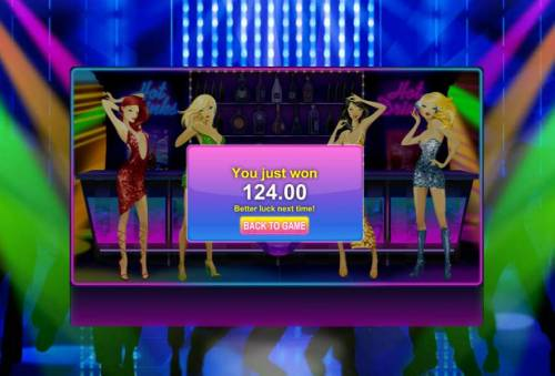 Party Night Review Slots bnous feature pays out a $124 jackpot