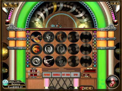 Payola Review Slots the records rotate instaed of the reels spinning