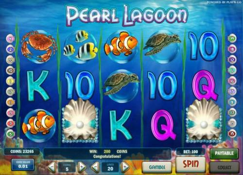 Pearl Lagoon Review Slots two scatter symbols triggers a 2x your bet