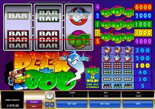 Peek-a-Boo Review Slots  Wild triggers a 100 coin payout