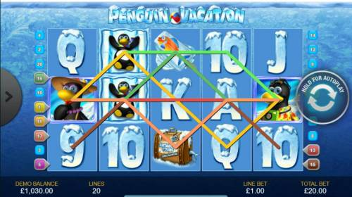 Penguin Vacation Review Slots Multiple winning paylines triggers a big win!