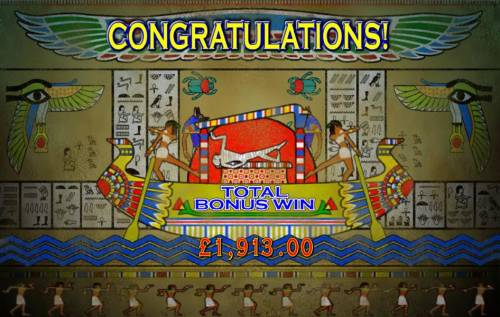 Pharaoh's Fortune Review Slots the free spins bonus feature paid out a  wopping 1913 coins.