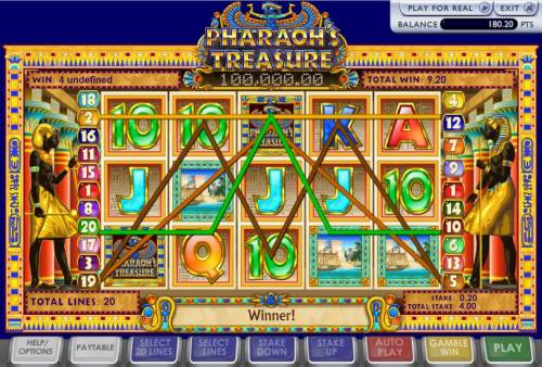 Pharoah's Treasure Review Slots here is an example of a multi-line win