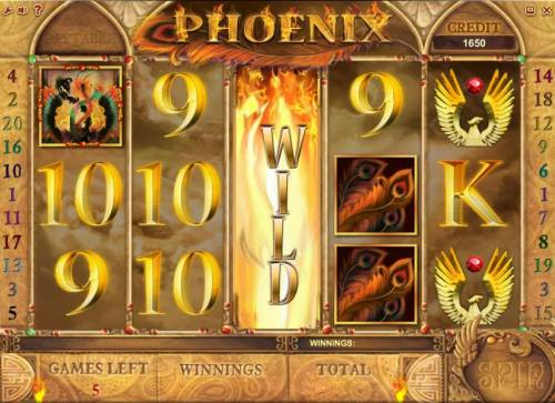 Phoenix Review Slots free spins feature game board
