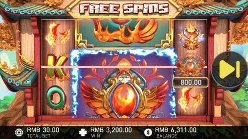 Phoenix Review Slots A 3,200.00 big win triggered during the free games feature.