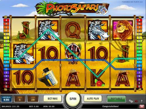 Photo Safari Review Slots multiple winning paylines triggers a modest 10 coin payout