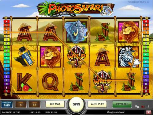 Photo Safari Review Slots four of kind triggers a $12.50 jackpot