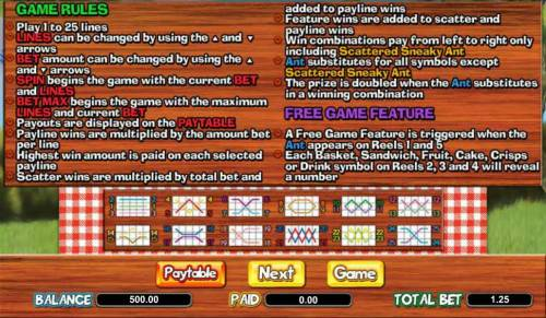 Picnic Panic Slots - Review & Free Instant Play Casino Game