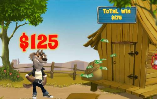 Piggies and the Wolf Review Slots The first attempt at blowing down the wood house awards a $125 prize