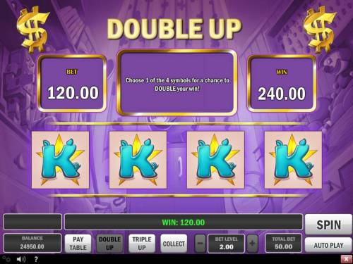 Piggy Bank Review Slots Double Up Gamble Feature Screen