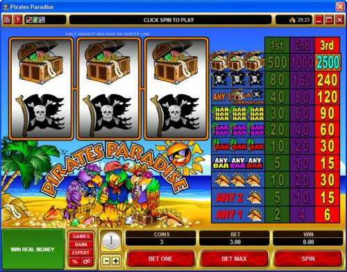 Pirates Paradise review on Review Slots
