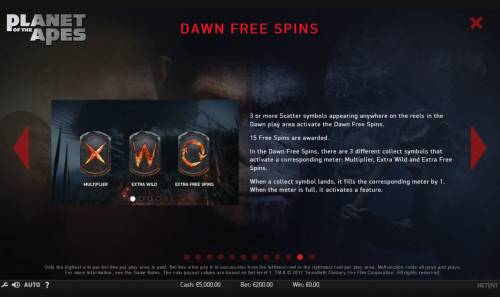 Planet of the Apes Review Slots Dawn Free Spins Rules