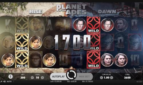 Planet of the Apes Review Slots Multiple winning paylines triggers a big win!